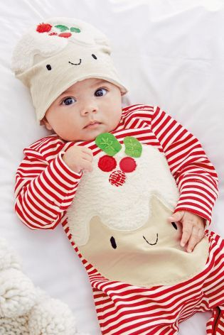 Kupte si Red/White Little Pudding Dress Up Sleepsuit And Hat (0-18 měsíců)  on-line dnes na Next: Česká republika - Kupte Si Red/White Little Pudding Dress Up Sleepsuit And Hat (0-18