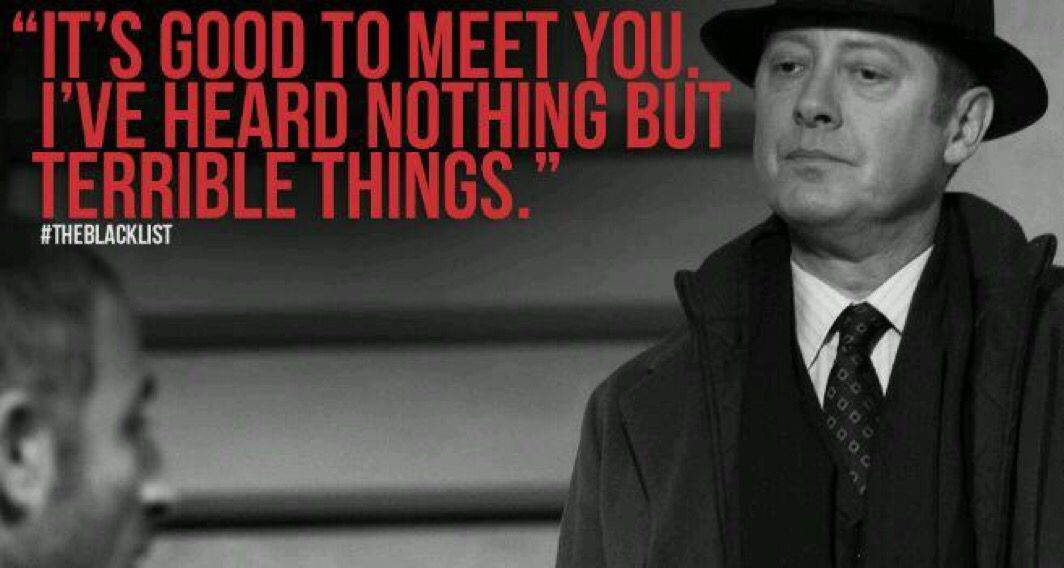 Because #Reddington never minces words...unless there's a good story to tell! #Spader #TheBlacklist