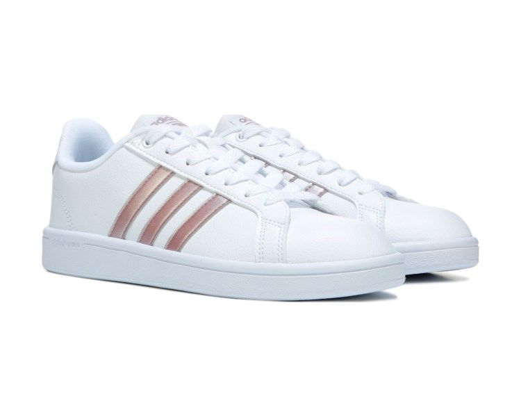 Women's Cloudfoam Advantage Stripe Sneaker | Sneakers, White ...