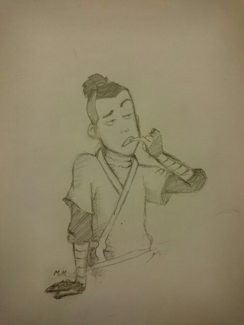 Sokka from avatar the last airbender avatardrawingsketch paintingwatertribeaangatla