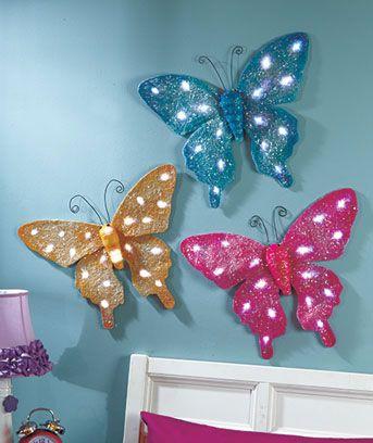 Twinkling Butterfly Wall Decor Butterfly Wall Decor Butterfly Decorations Bedroom Butterfly Wall