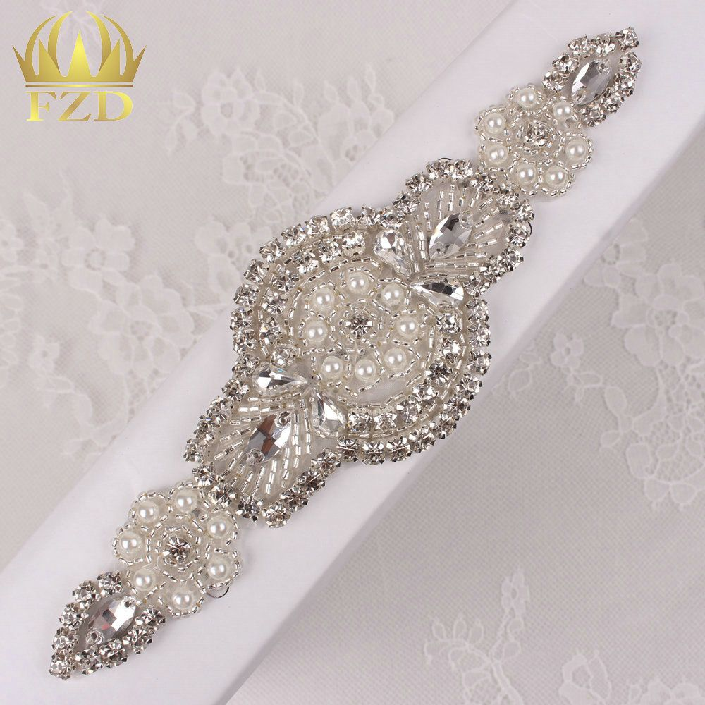 Aliexpress.com   Buy (30pieces) Wholesale Hot Fix Iron Beaded Bridal Sew On Rhinestone  Applique Crystal for Dresses and DIY Bridal… 55d163331c5e