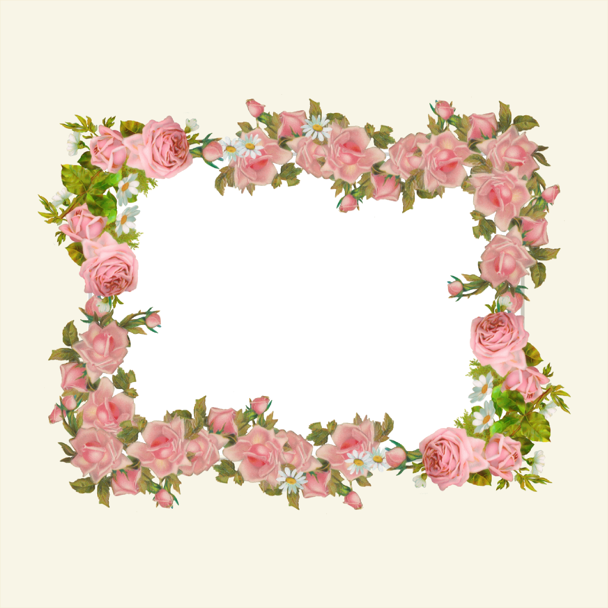FREE printable vintage rose border papers ( + frame png ...