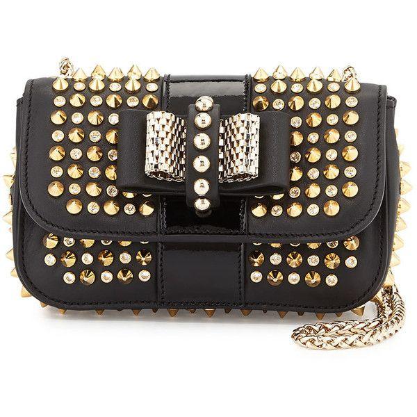 e171aa5aaa5 Sweet Charity Spiked Crossbody Bag, Black Gold by Christian Louboutin at  Bergdorf Goodman.