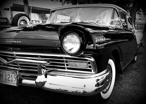 Ford Fairlane Wide Black White Ford Fairlane Ford Dream Cars