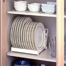 Foldable Dish Plate Drying Rack Organizer Drainer Storage Holder Kitchen Tray