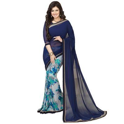 Buy Amar Enterprise Prined Georgette saree by One More Enterprise, on Paytm, Price: Rs.749?utm_medium=pintrest