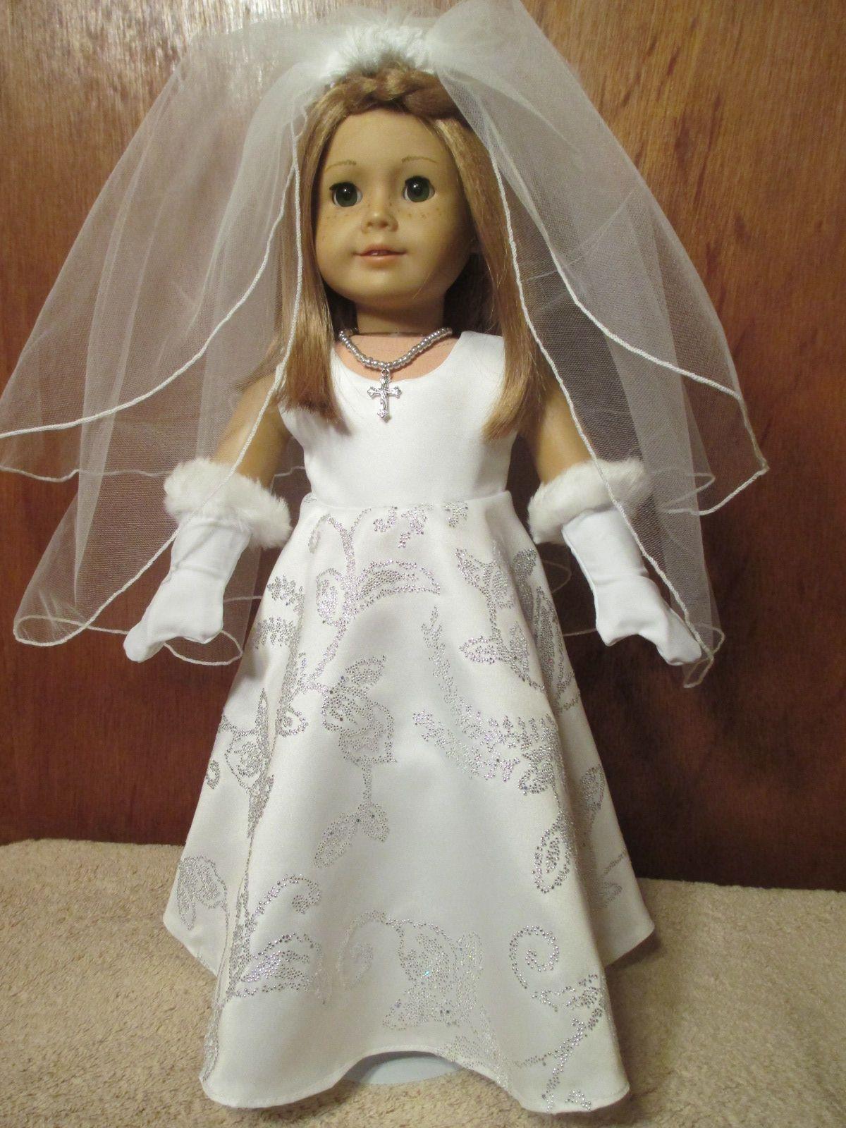 Girls wedding dress  American Girl First Communion and Wedding Dress