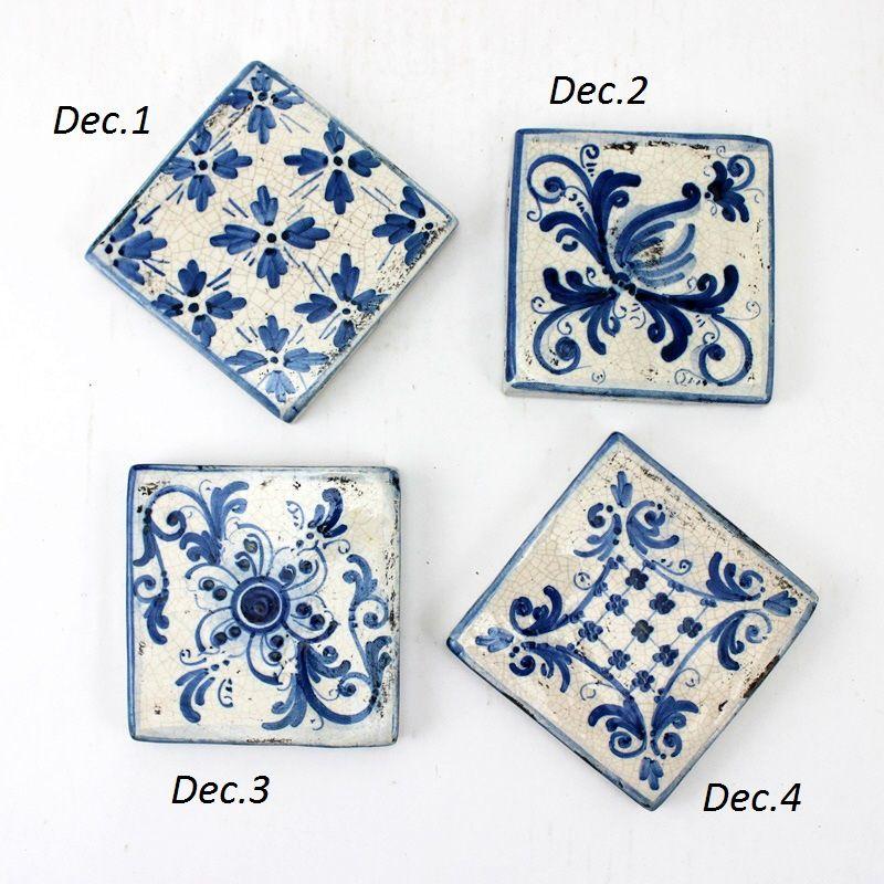 Piastrelle ceramica blu caltagirone sicilia cerca con - Piastrelle cucina 10x10 ...