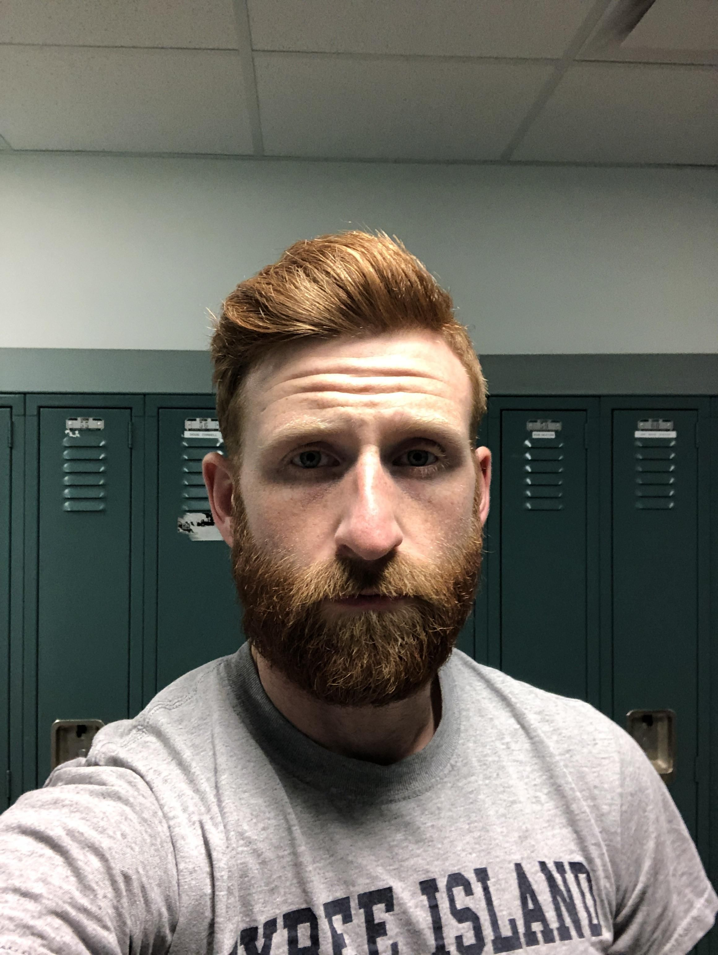 Couple Months In With The Ginger Beard In 2019 Bald With