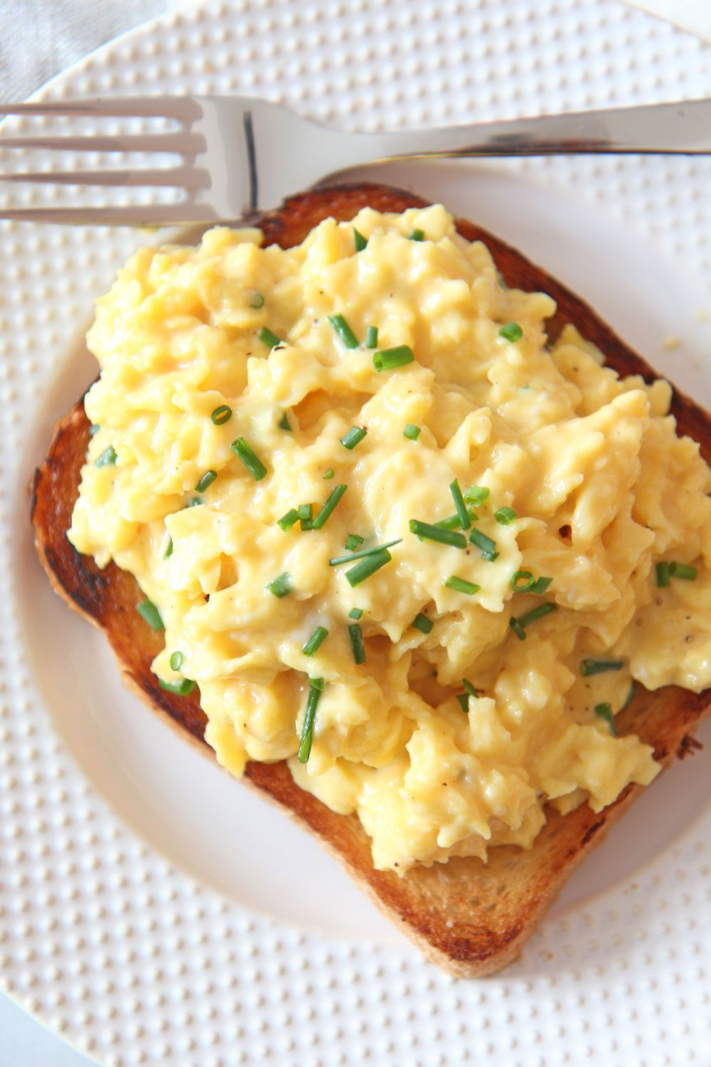 How To Make The Creamiest Scrambled Eggs Chop Happy Recipe Creamy Scrambled Eggs Recipes Scrambled Eggs