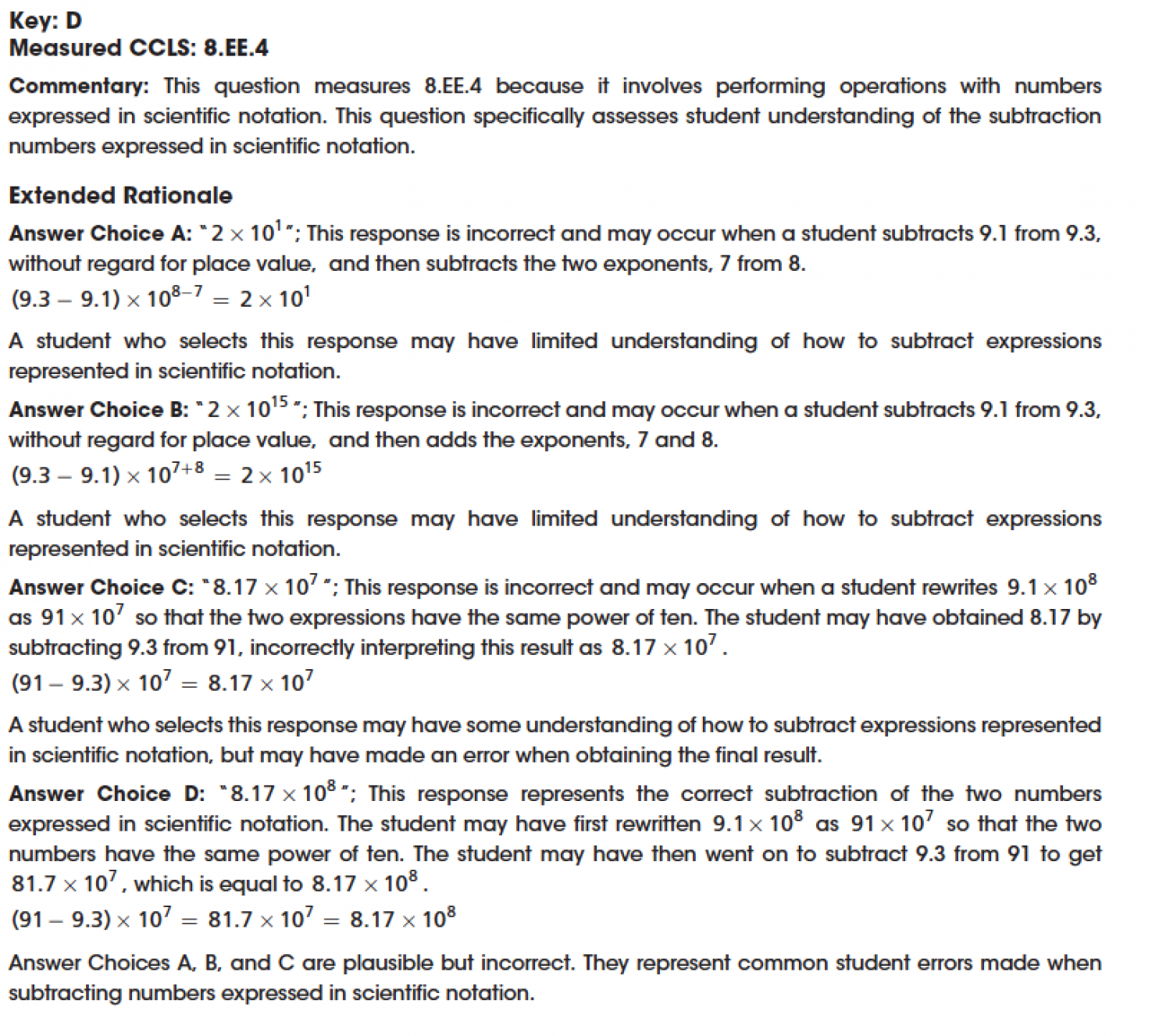 A Dissection Of Common Core Math Test Questions Leaves