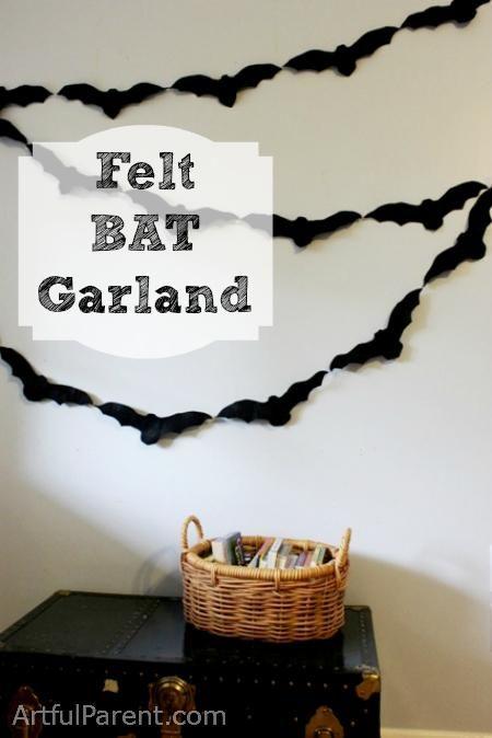 DIY Halloween  A Felt Bat Garland  DIY Halloween Decorations