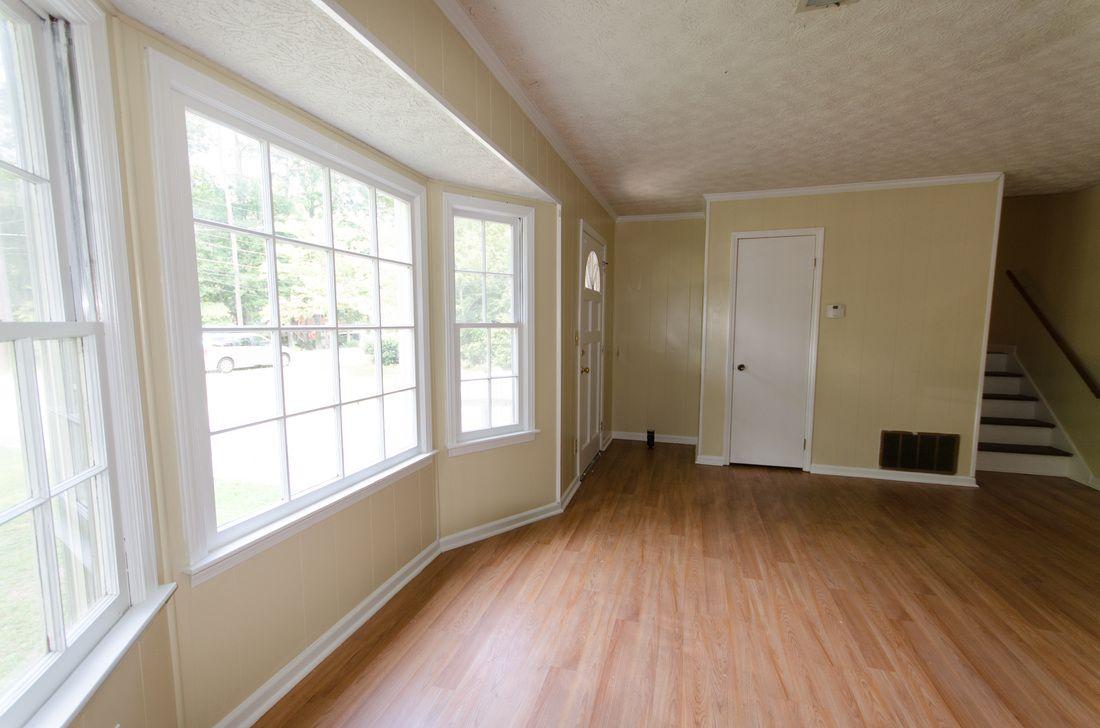 Bay Window Sherwin Williams Netsuke Wood Flooring Family Room Living Room Yankee Homes