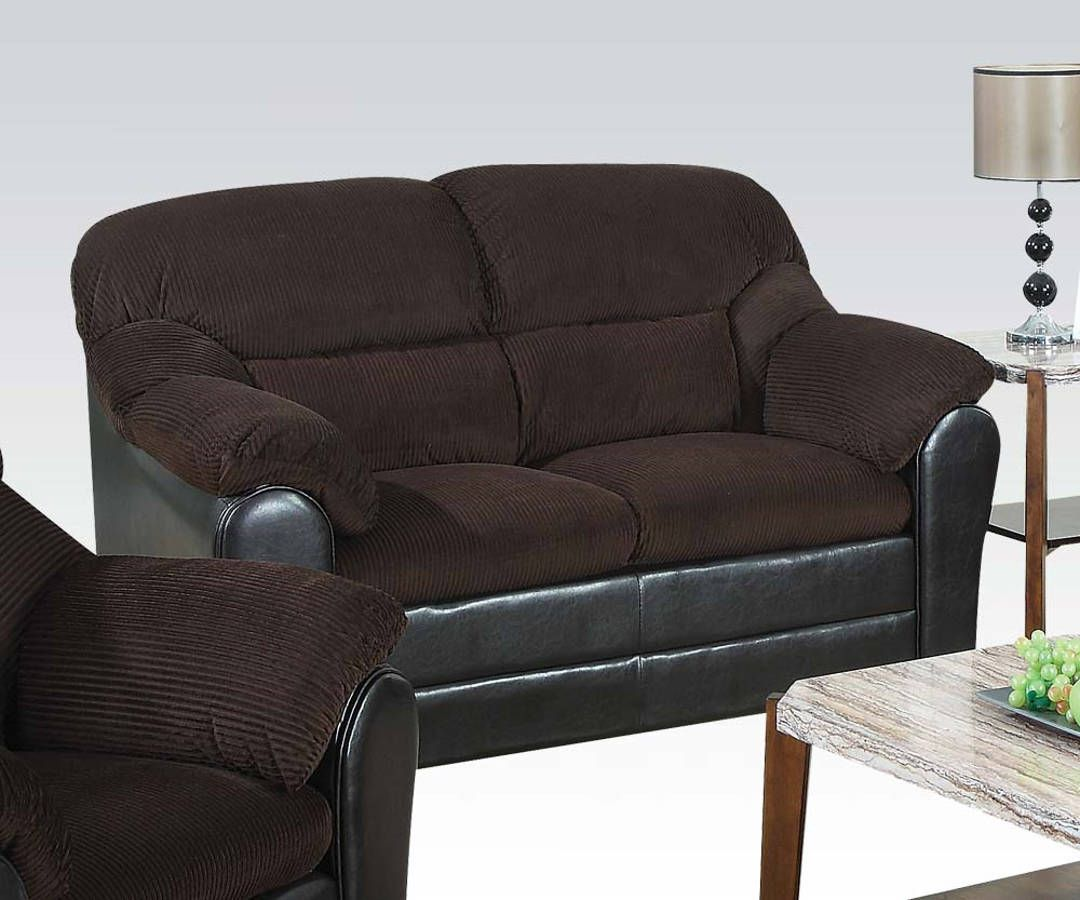Chocolate Corduroy Sofa Connell Chocolate Corduroy Espresso Fabric Loveseat Loveseats