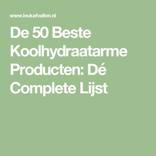 koolhydraatarme producten lijst