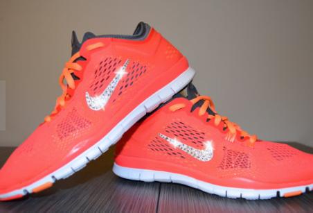 Customize Women's Nike Orange Running Shoes