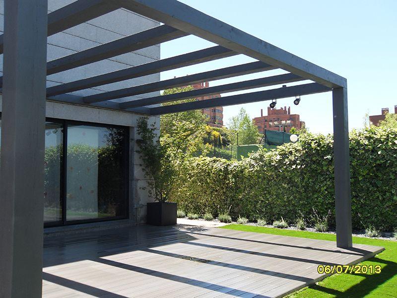 Resultado de imagen para pergolas de madera exteriores en 2019 pinterest pergolas de Pergolas de metal