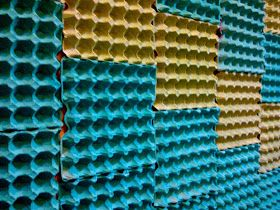 Silent But Talkative Wall Art 3 Egg Cartons Art
