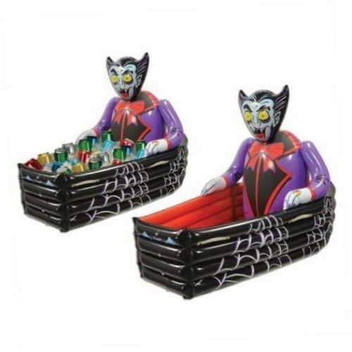halloween party cooler vampire w coffin scary decoration beverage holder inflate