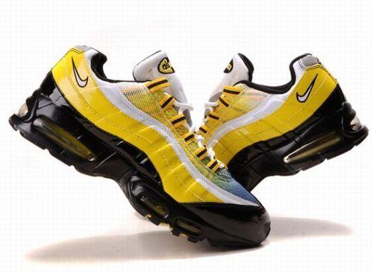 130f24762e4 Nike Air Max 95 Men s White Yellow Black