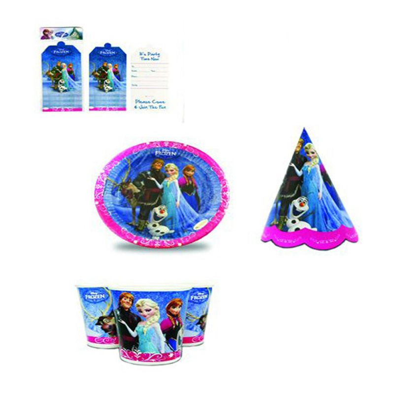 Disney Frozen Party Description Party Butiko brings you this multi color themed tableware combo set of paper plates glasses hats and Invitation Cards for ...  sc 1 st  Pinterest & Disney Frozen Party Description Party Butiko brings you this multi ...