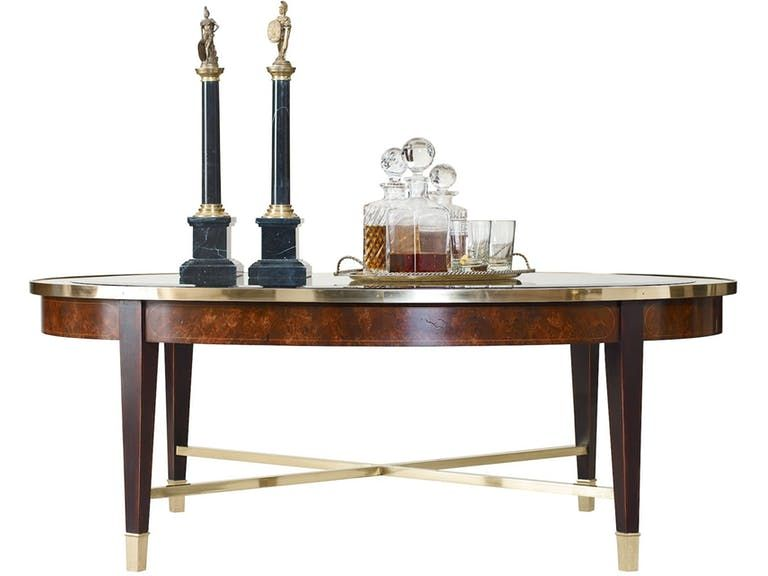Henredon Furniture Crossroads Oval Cocktail Table 2800 40G