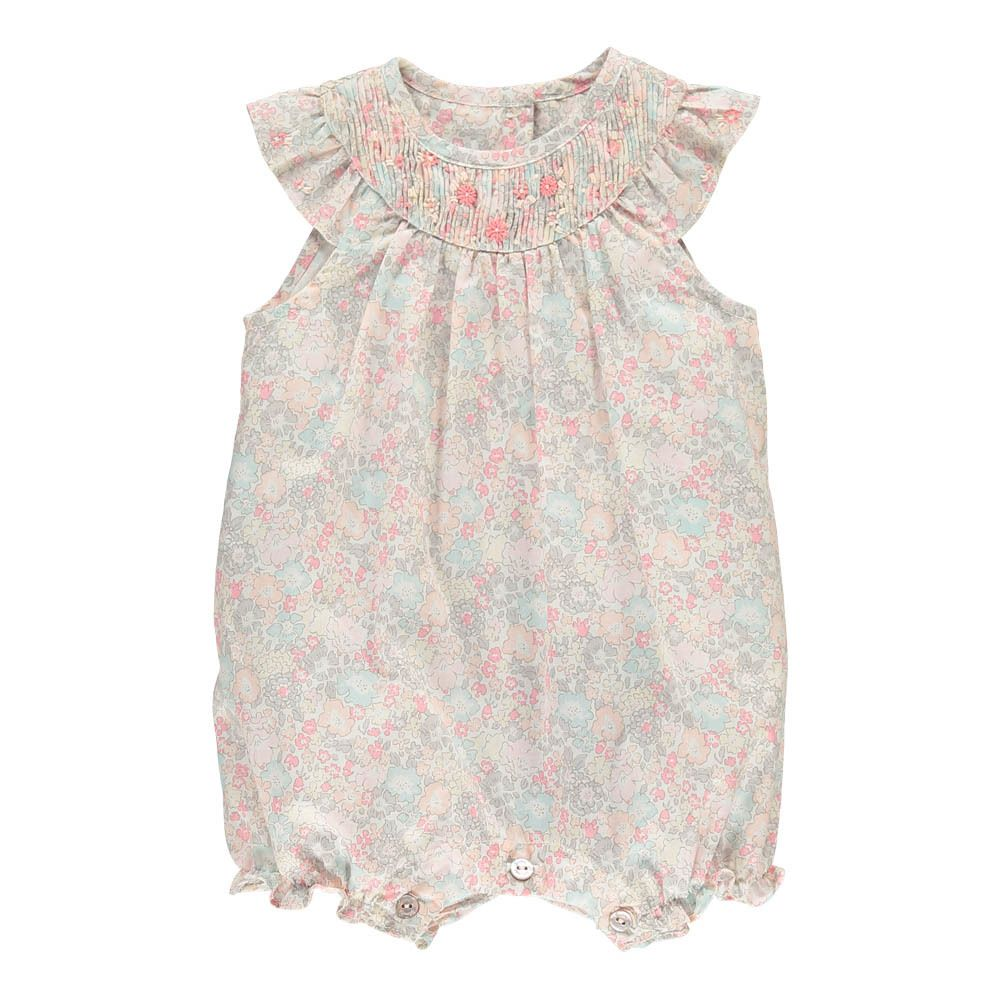 Hand Embroidered Liberty Romper Tartine et Chocolat Baby- A large selection of Fashion on Smallable, the Family Concept Store - More than 600 brands.