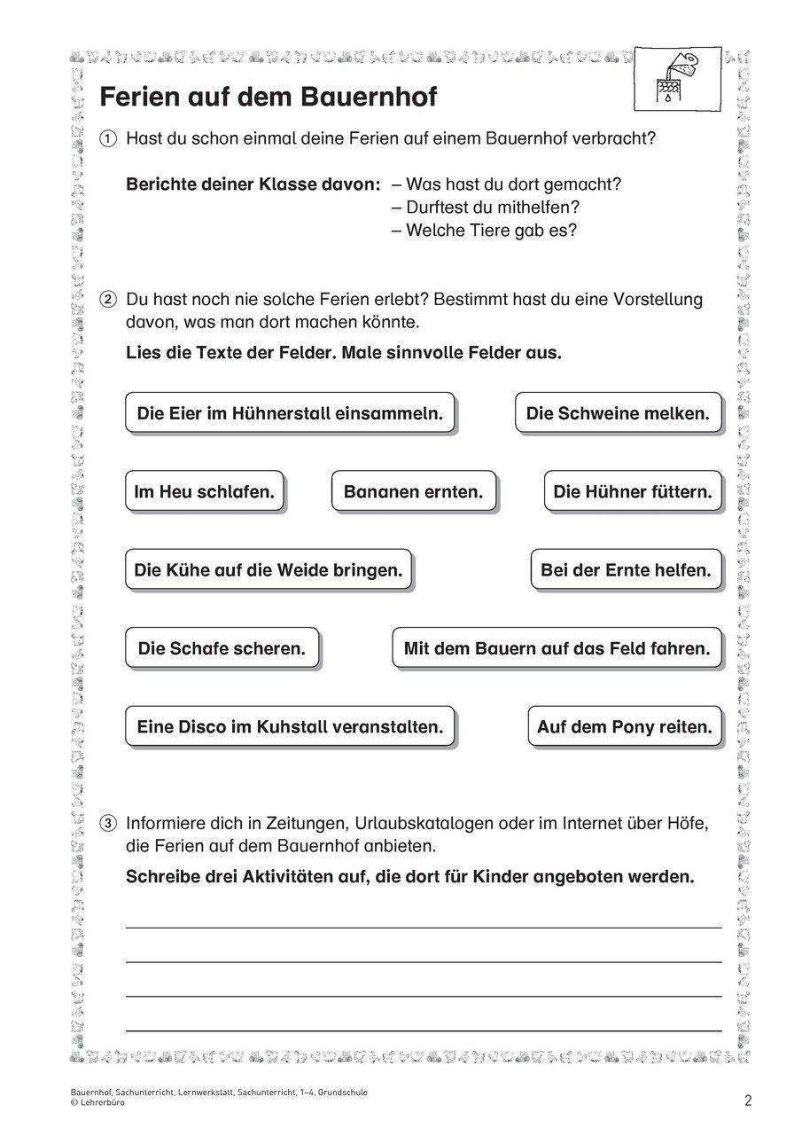 Natur und Leben · Arbeitsblätter · Grundschule · Lehrerbüro | Franzi ...