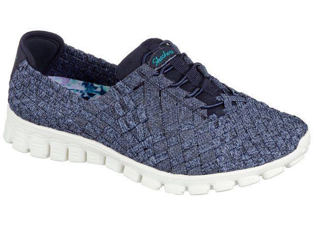 Details about 22837 Navy Skechers Shoe New Walk Memory Foam