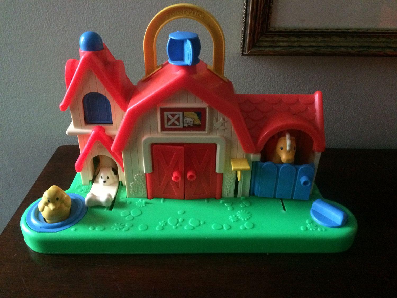 1987 FisherPrice Farm Barn Animal Toy 1005 by
