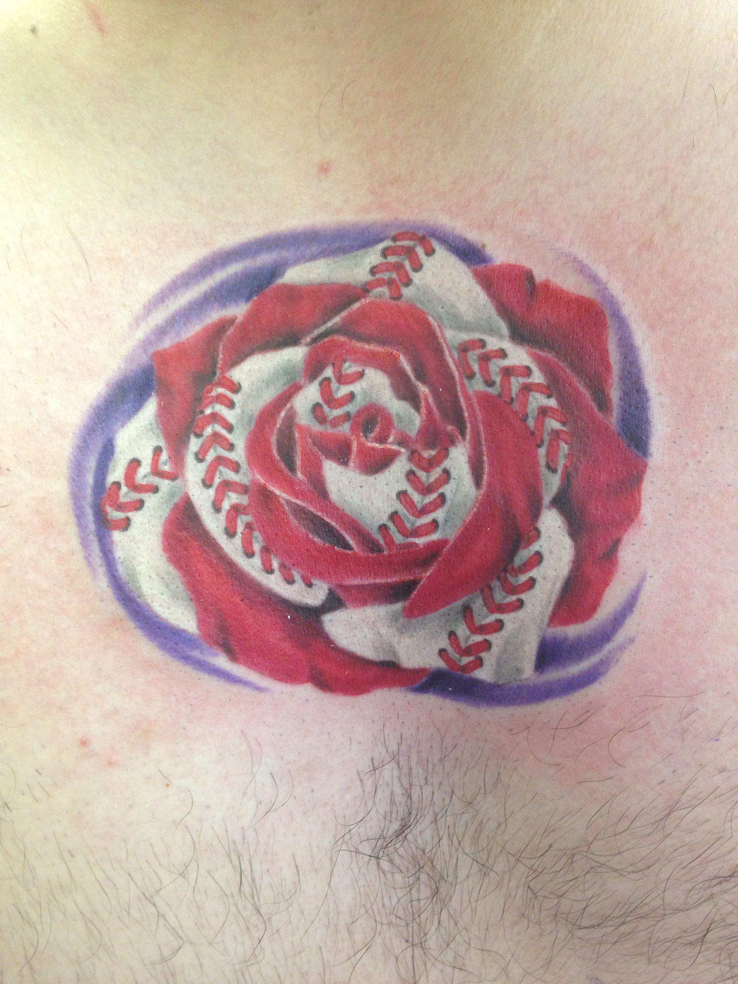 Ink Junkies Arvada Co Baseball Rose Arvada Leather Bracelet Ink