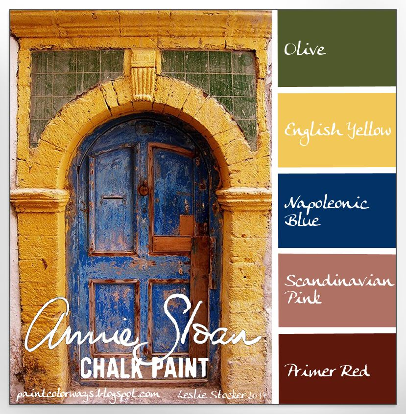 Bold And Bright Chalk Paint Colors Combinations