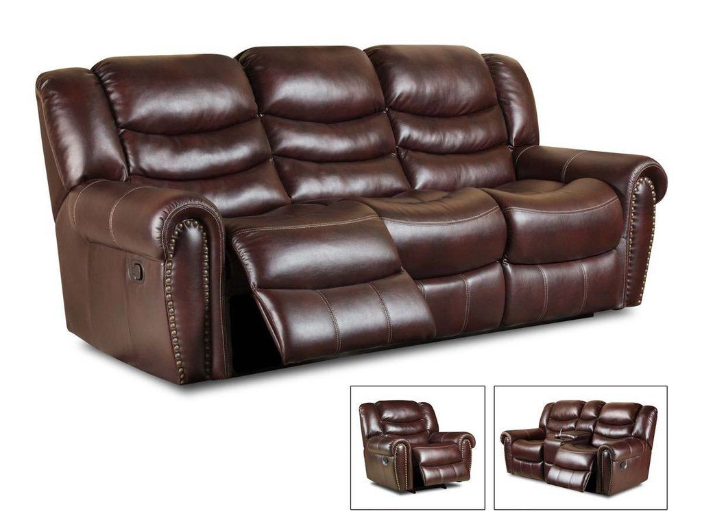 Corinthian Salinger Burgundy Reclining Sofa And Loveseat Motion Living Room Sets