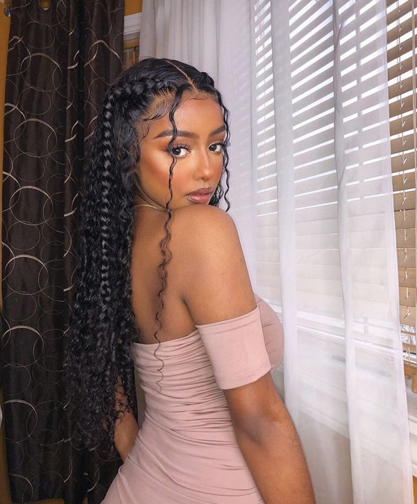 Pin By Marcus Carr On Black Girl Fashion In 2020 Full Lace Wig Glueless Baby Hairstyles Full Lace Wig