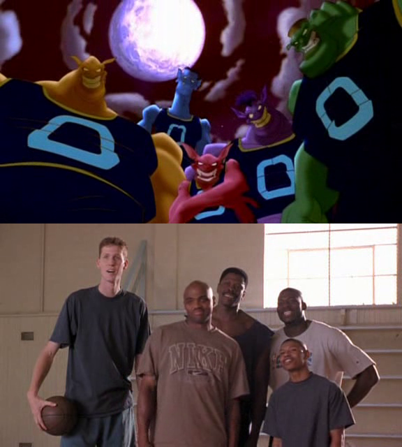 the nba players becomes the monstars space jam by