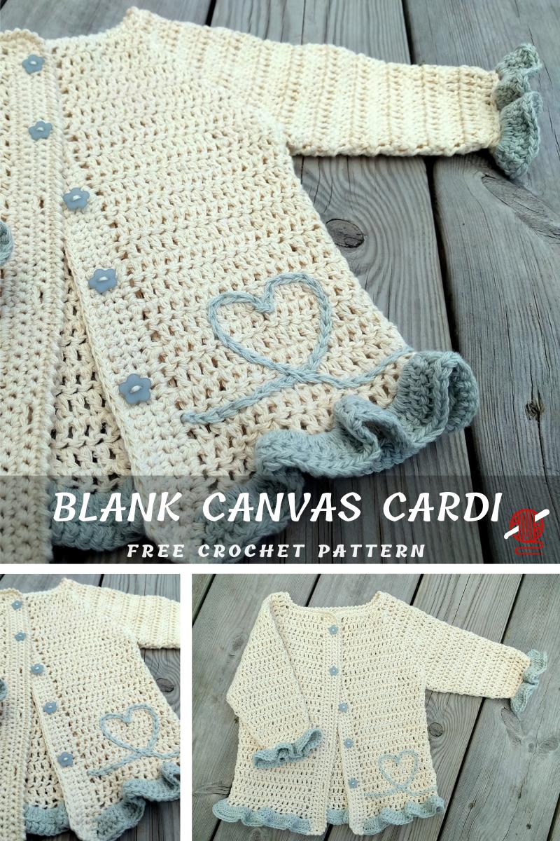 Blank Canvas Cardi #crochetbabycardigan