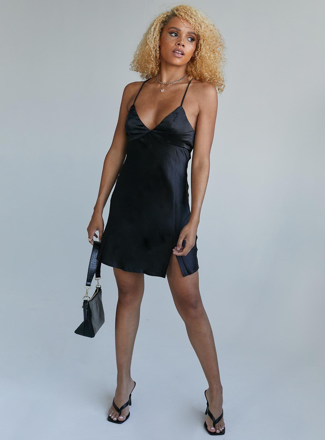 Cameron Mini Dress Black Mini Black Dress Mini Slip Dress Mini Dress [ 1820 x 1345 Pixel ]