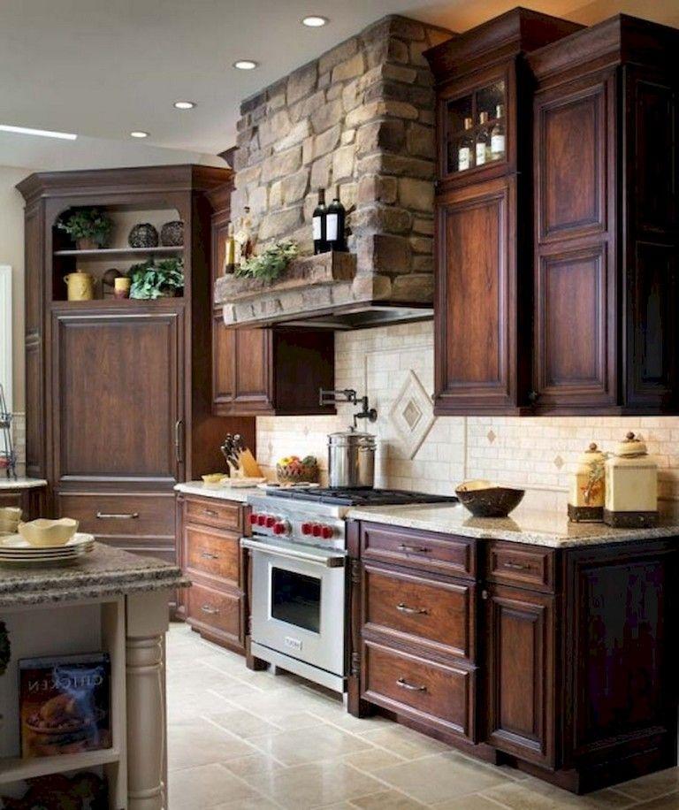 Dark Walnut Kitchen Cabinets: 80 Beautiful Kitchen Backsplash Decor With Dark Cabinets