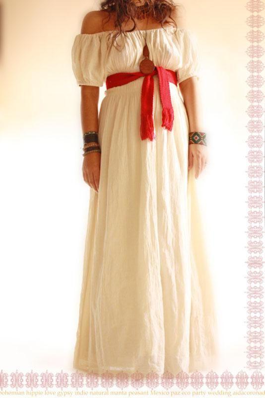Unique Aurora vintage Romantic handmade Mexican dress