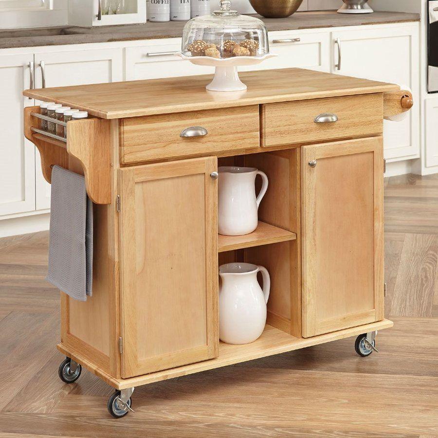 Home Styles Brown Scandinavian Kitchen Cart 5099-95