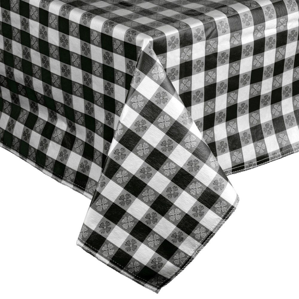 "25 Yard Roll Gingham Vinyl with Flannel Backing 54/"" wide"