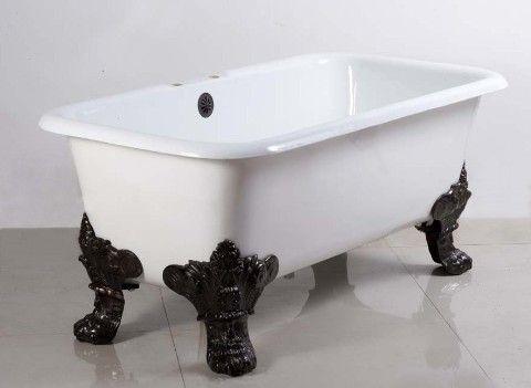 With Chrome Feet Instead Bathroom Doors Are Bougie