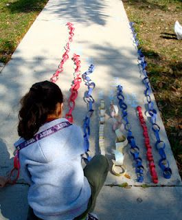 Students partner up and have to build the longest chain they can with only one piece of construction paper. This would be great for a measurement activity