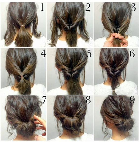 Splendid 5 Minute Hair Bun Fashion Diy Hairdo Updo Hairstyle Instructions Directions Step By How To Pictorial Tutorial The Post