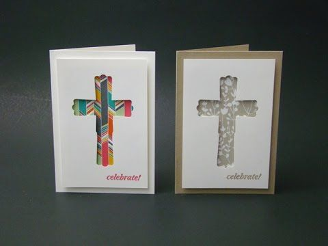 Modern Label Punch Cross Card Video Tutorial Easter Note Cards A1 And Many More Stamp Set Something Bo Punch Art Cards Cards Handmade Confirmation Cards