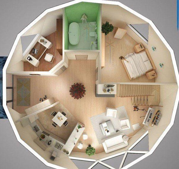 Dome Home Design Ideas: купольные дома интерьер - Поиск в Google