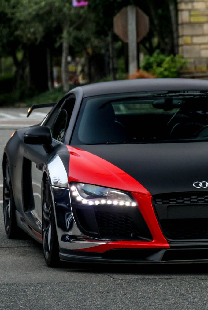 Audi RChrome Red And Matte Audi R Pinterest Audi Cars - Red audi r8