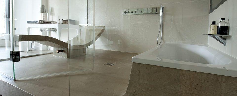 Béton Ciré et Enduit Décoratif pour la salle de bains Concrete - enduit salle de bain