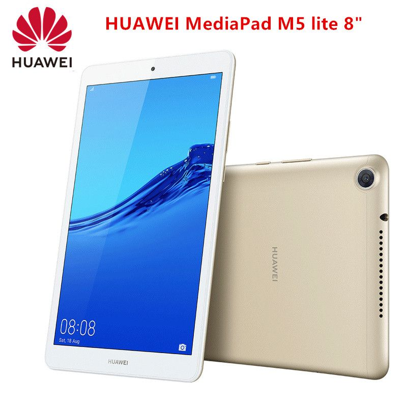 Original Huawei Mediapad M5 Lite 8 Tablet 3gb 32gb Android 9 Hisilicon Kirin 710 Octa Core 8mp 13mp 1200 X 1920 5100mah Ips Tablet Huawei Android 9